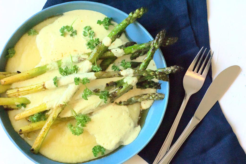 Asparagus, Recipe, Vegan, Red Lentil and Potato Mash