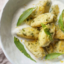 LEMON AND WILD GARLIC GNUDI