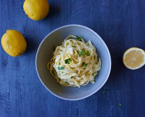 tagliolini al limone, easy, recipe, vegan, lemon cream sauce, noodles, carbheaven, best ever, italian
