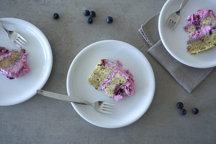 Summer, Birthday, Cake, Blueberries, Lemon, Poppy Seed, Best ever, Foodporn, Recipe, Vegan