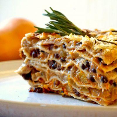 Pumpkin, Porcini, Lasagna, Lasagne, Homemade, Environmentally Friendly, High protein, Best ever, Foodporn, Vegan, Recipe